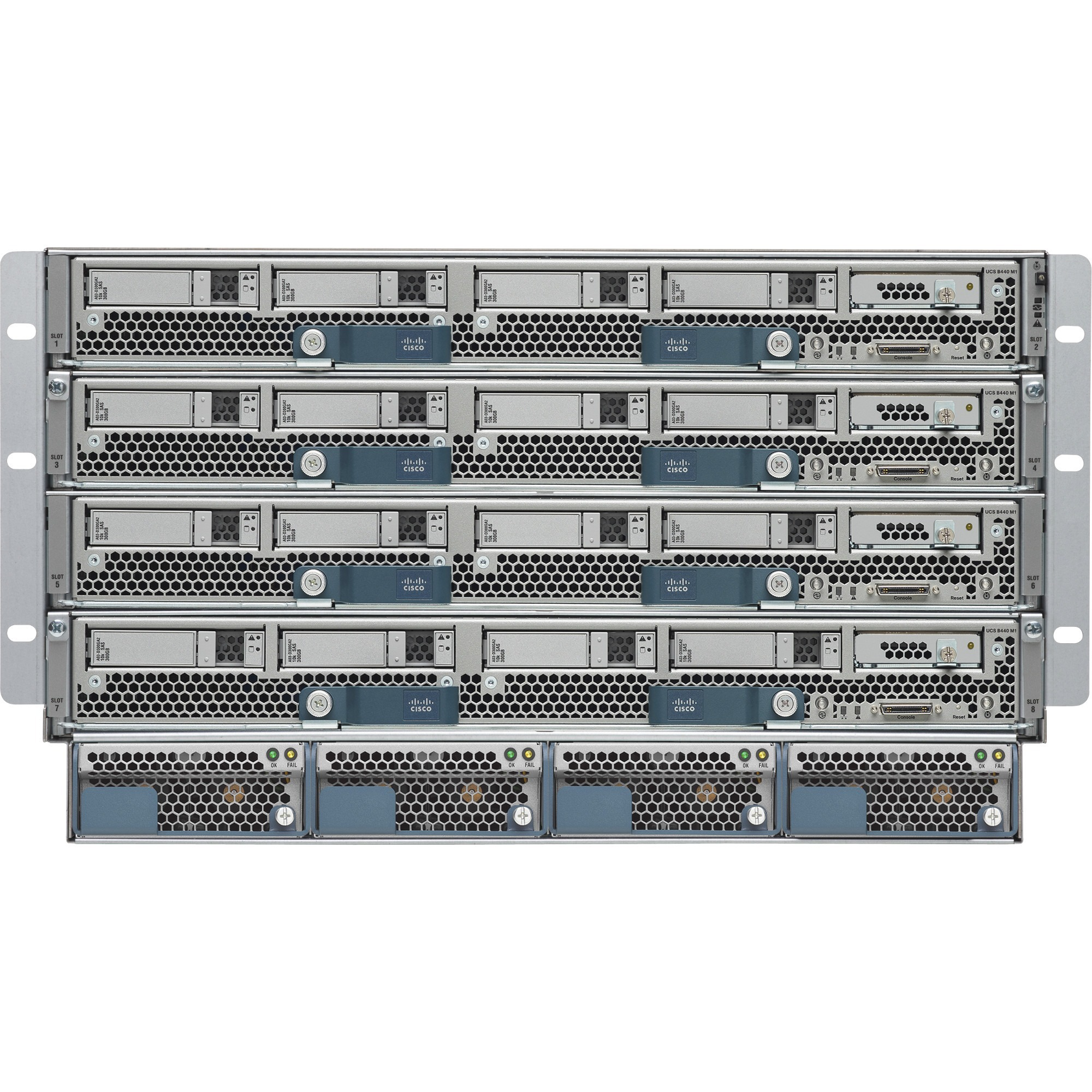 Cisco UCS 5108 Blade Server Chassis - Refurbished - Rack-mountable - Gray -  6U - 8 x Fan(s) Installed - 4 x 2500 W - Power Supply Installed - TAA