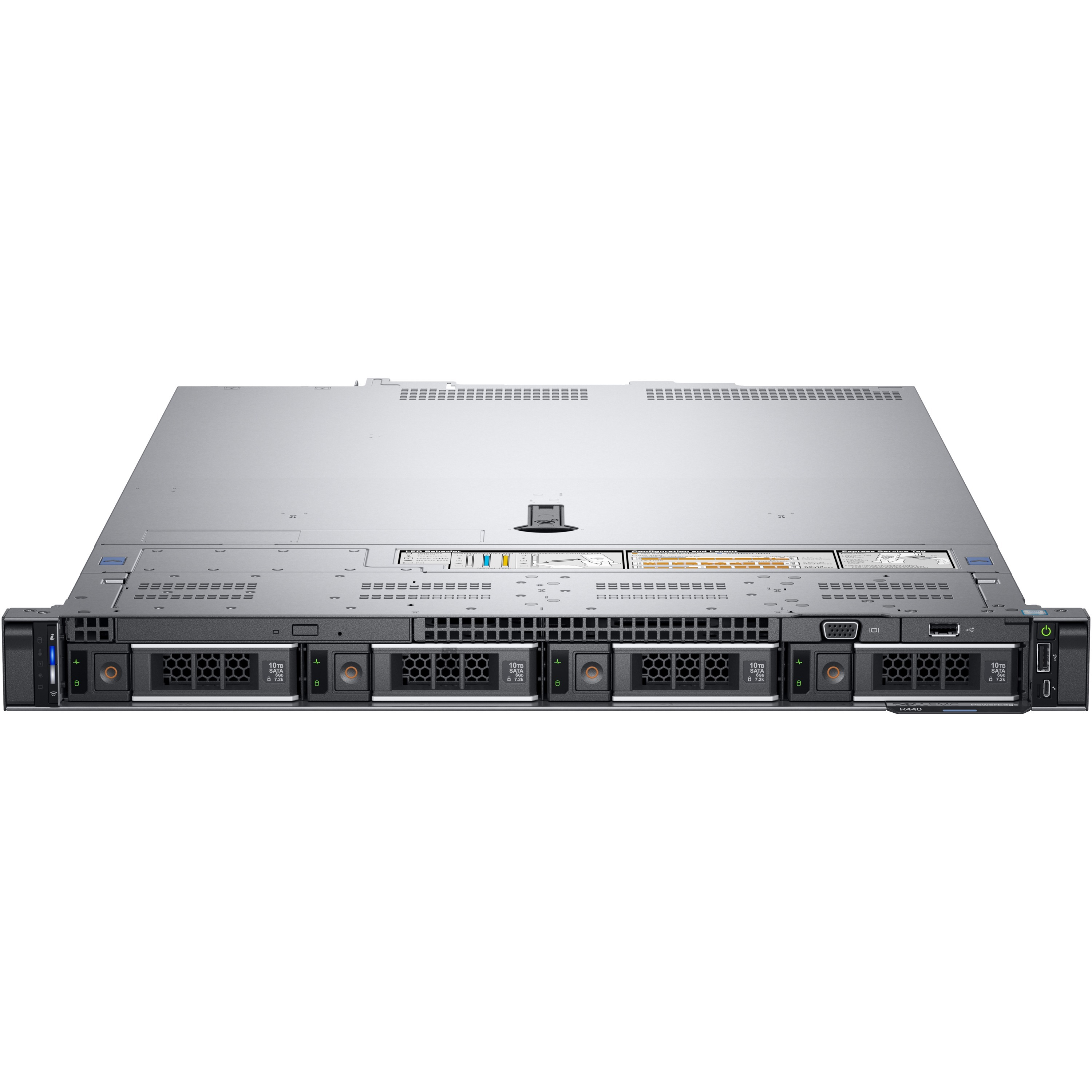 Dell EMC PowerEdge R440 1U Rack Server - 1 x Intel Xeon Bronze 3106  Octa-core (8 Core) 1 70 GHz - 16 GB Installed DDR4 SDRAM - 1 TB (1 x 1 TB)  Serial