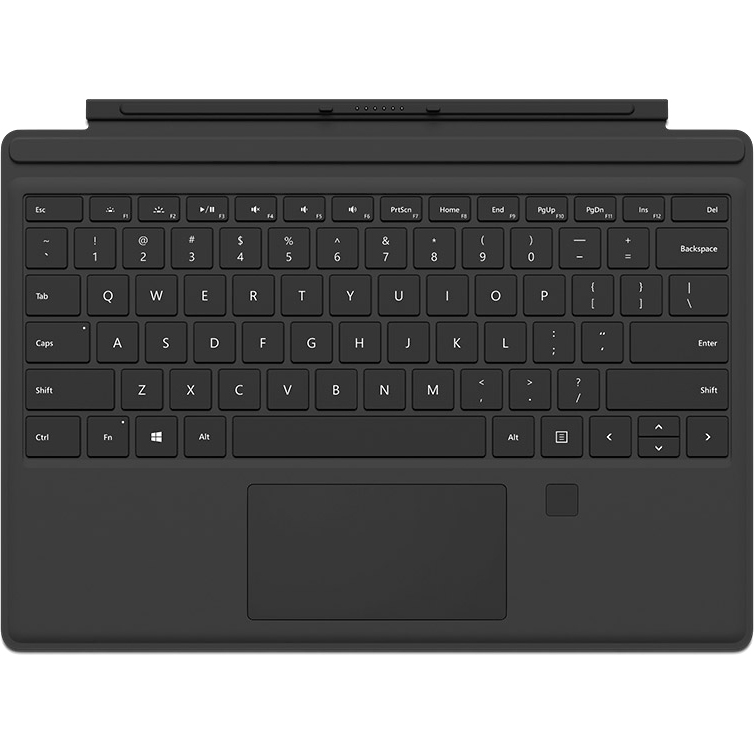 Microsoft Type Cover Keyboard/Cover Case Tablet - Black - Bump Resistant,  Scratch Resistant - Canadian English Keyboard Localization - 8 5
